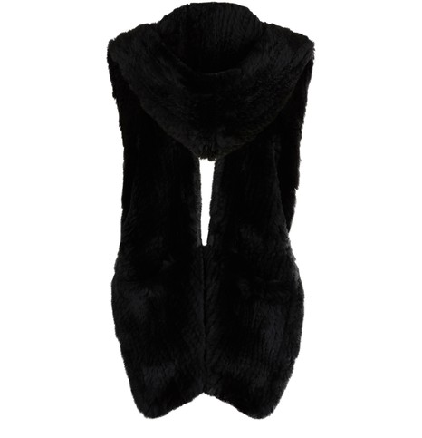 YVES SALOMON Rabbit fur scarf