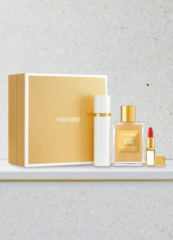 TOM FORDCoffret paillette et maquillage Soleil Blanc format voyage
