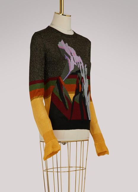 Marco de VincenzoLurex jacquard crew neck sweater