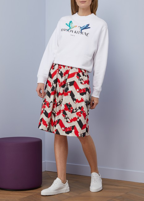 Maison Kitsuné Love birds cotton sweatshirt