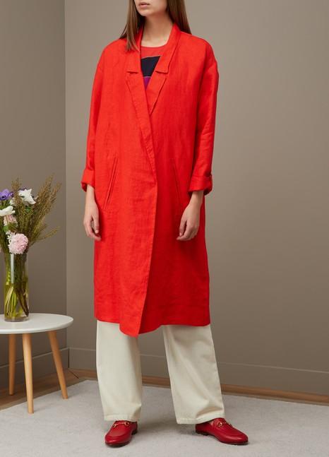 Forte_ForteOversized linen coat
