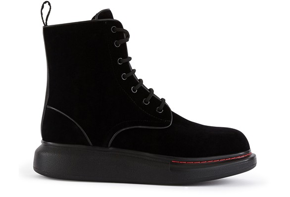 ALEXANDER MCQUEENOversize lace up ankle boots