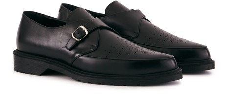 CELINE Celine Creepers Brogue shoes in calfskin with detailed buckles.