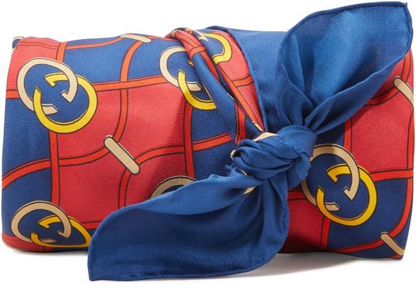 GUCCIGG waves silk scarf