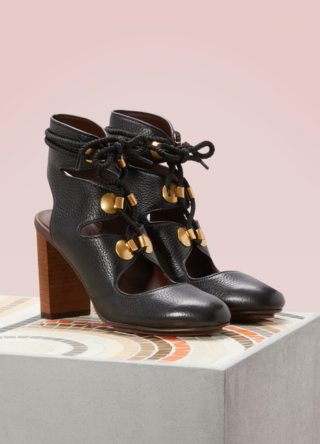 See by ChloéHigh-Heeled Lace-Up Sandals