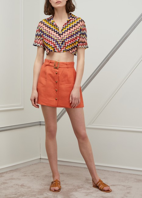 Lisa Marie FernandezBelted mini skirt