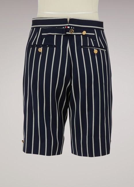 Thom Browne Striped wool shorts