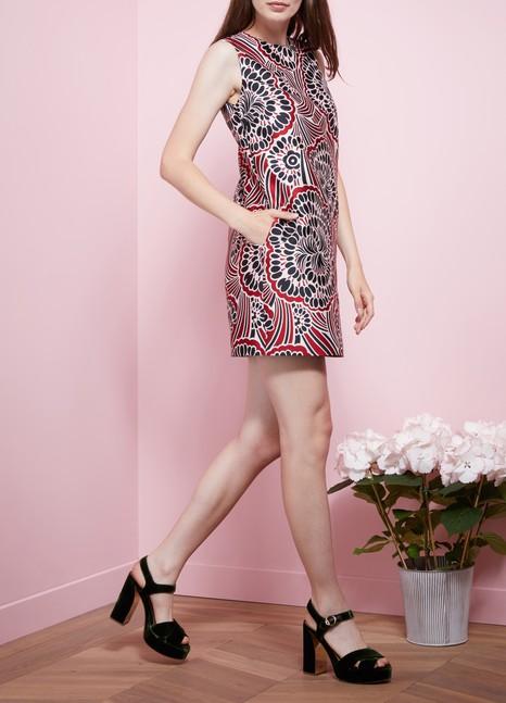 Red ValentinoBrocard Dress