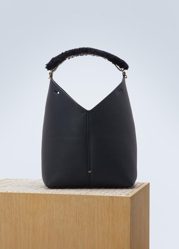 Anya HindmarchHandbag with a shearling handle
