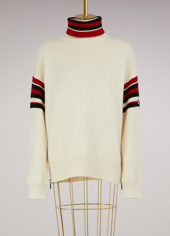 Moncler GrenobleStriped wool sweater