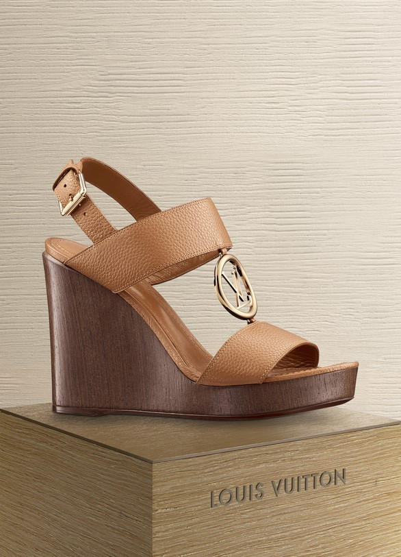 LOUIS VUITTON Vedette Wedge Sandal