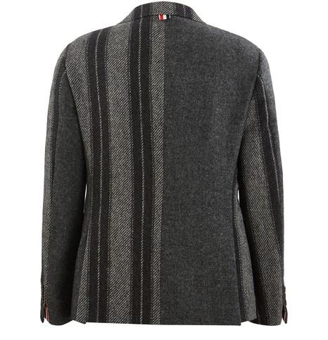 THOM BROWNEStripe Shetland wool blazer