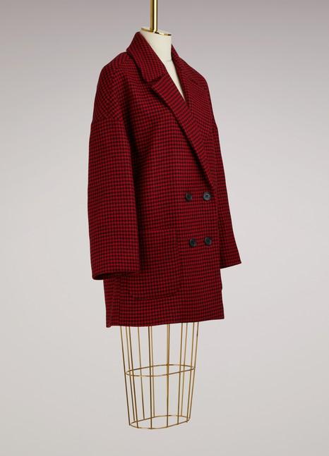 Red ValentinoManteau oversize pied-de-poule
