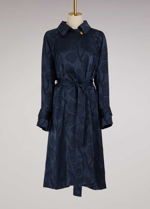 PETER PILOTTO Trench en satin Jacquard
