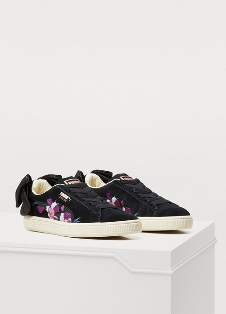 PumaBow flowery sneakers