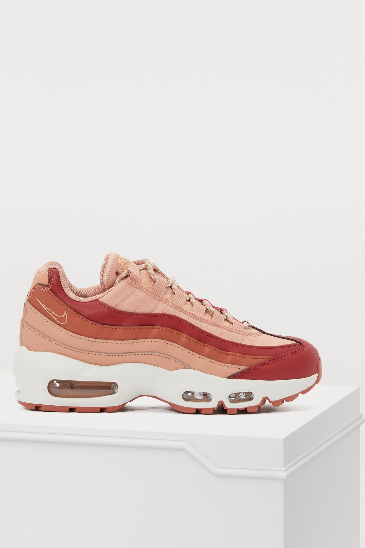 a3a551b8c9 Nike Air Max 95 Suede And Leather Sneakers In Blush | ModeSens