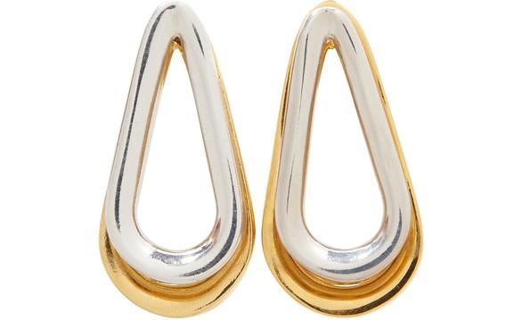 ANNELISE MICHELSONBoucles d'oreilles bicolores double Ellipse