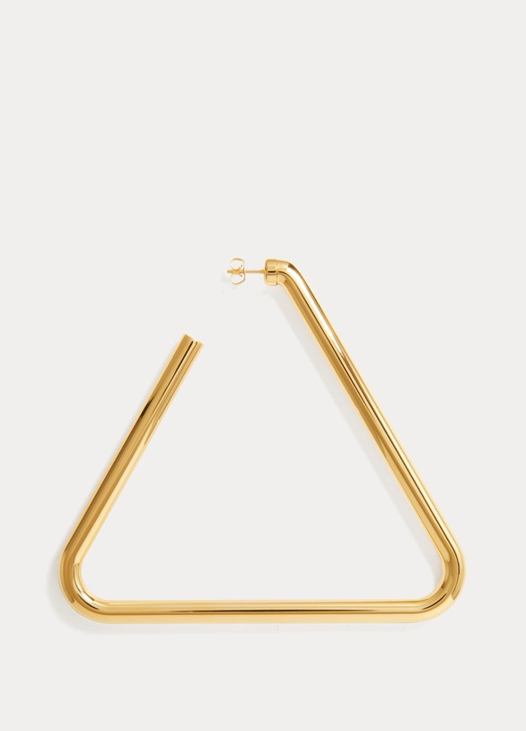 Balenciaga Triangle single earring