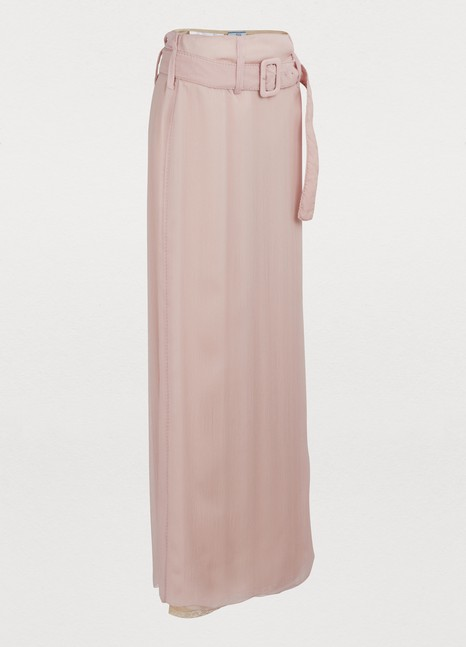 PRADASilk long skirt