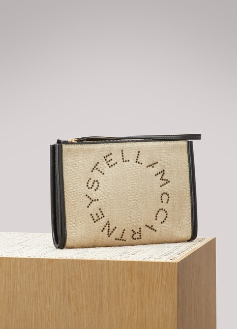 Stella McCartneyPochette à logo en lin