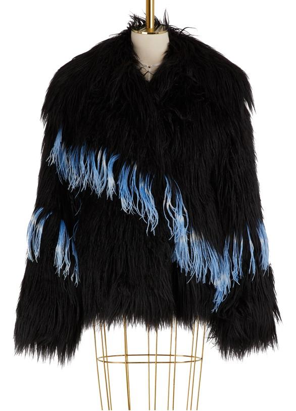 DRIES VAN NOTENFaux fur coat