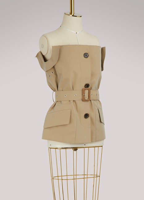 MAISON MARGIELA Trench bustier