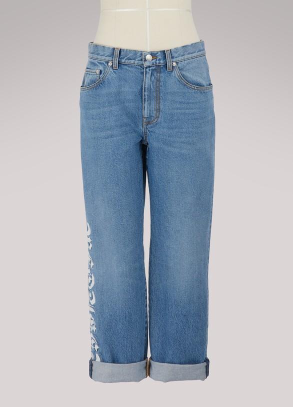 Alexander McQueenLogo cotton jeans