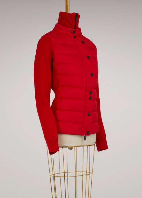 Moncler Grenoble Wool and duvet cardigan