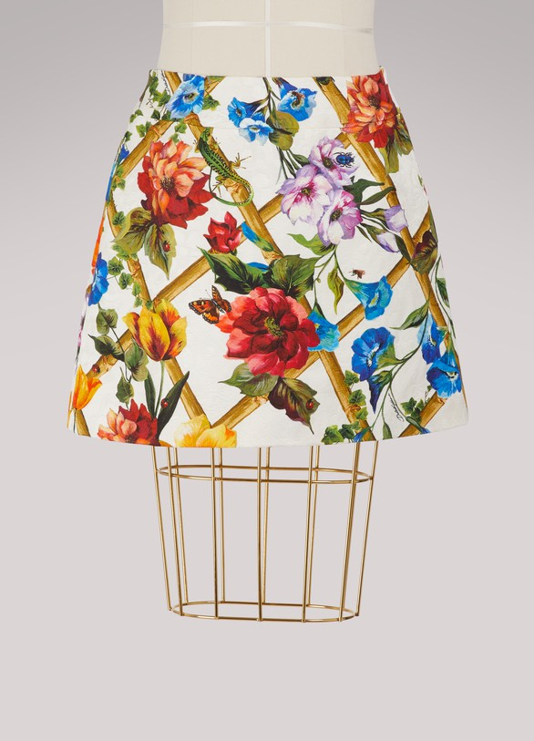 Dolce & GabbanaBamboo printed short skirt