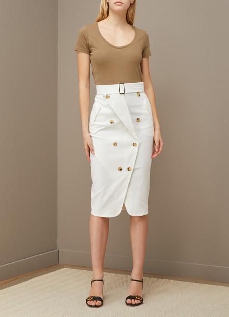 Majestic FilaturesT-shirt en coton col rond