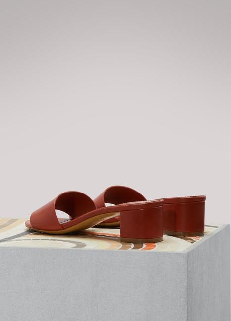 Sandales cuir Gavriel Mansur en végétal Rgpqvw5