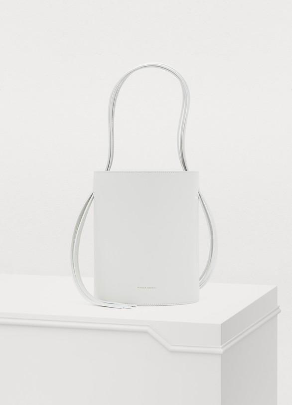 a17b7b838555 Mansur Gavriel Fringed leather bucket bag