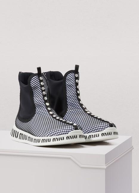 Miu sole high sock sneakers Miu Miu jeLi4