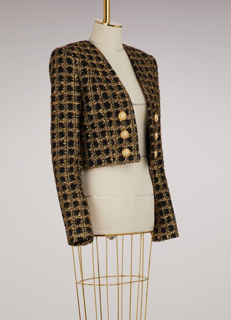 Balmain Veste courte en tweed
