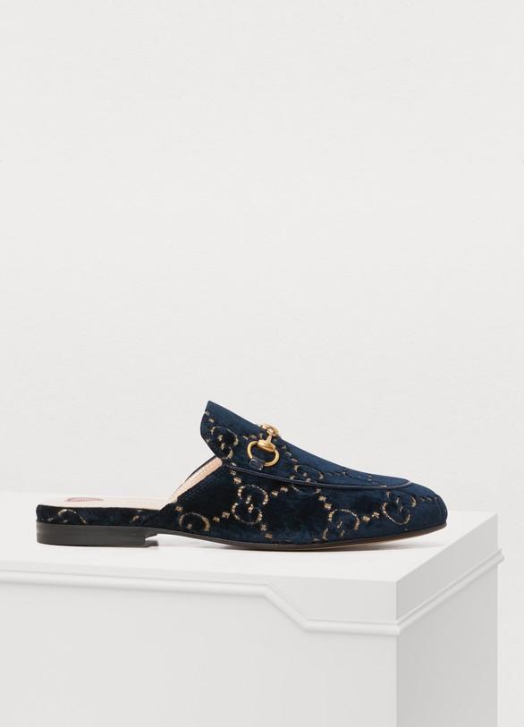 1bb0cd899ca Women s Princetown GG velvet slippers