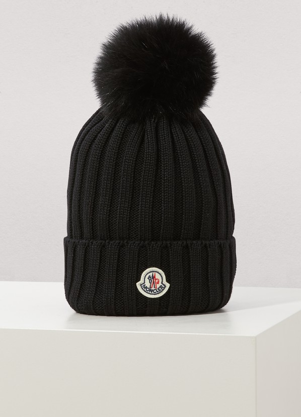 5b6df78e6d0 Moncler Wool Hat In Black