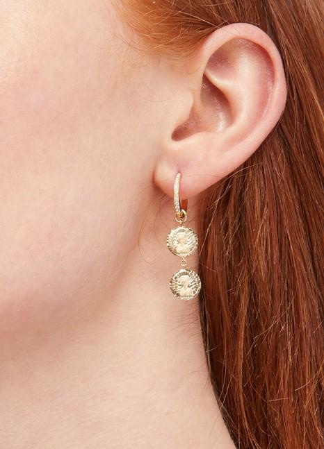ANISSA KERMICHELouise d'Or Double single earring
