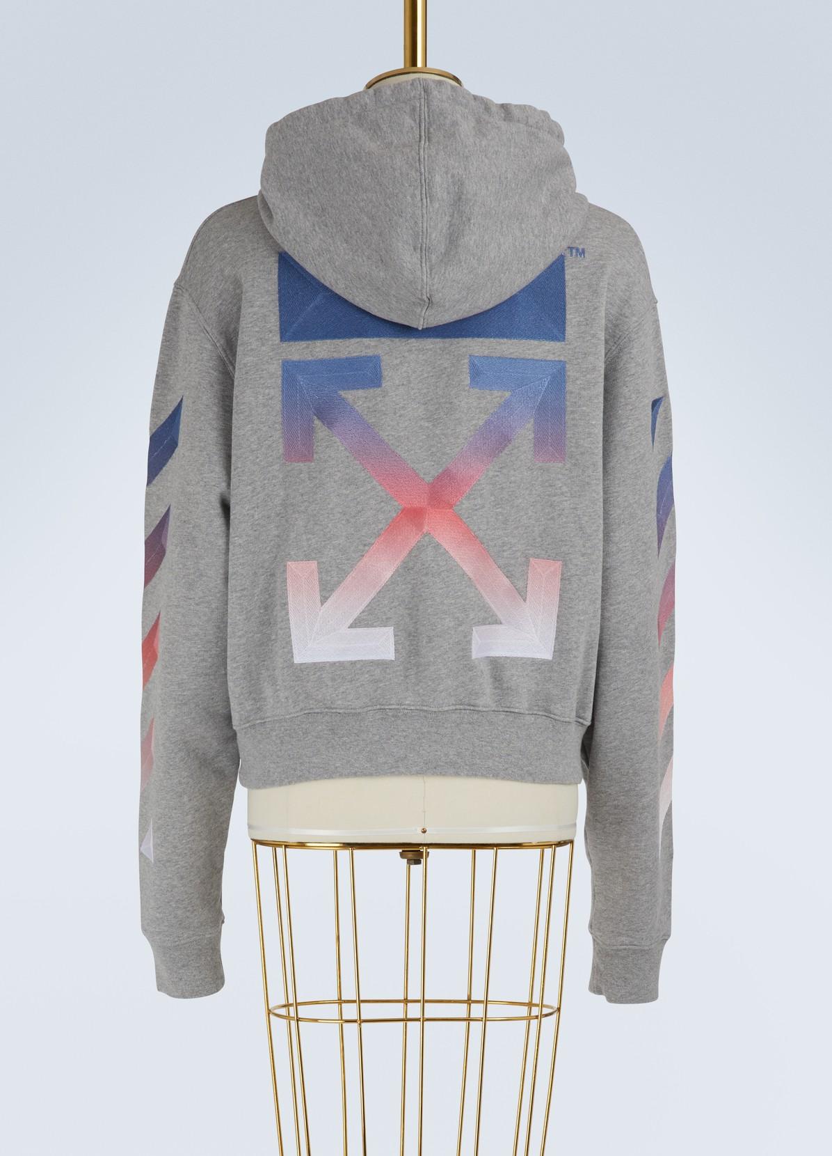 OFF WHITESweat à capuche logo croppé en coton