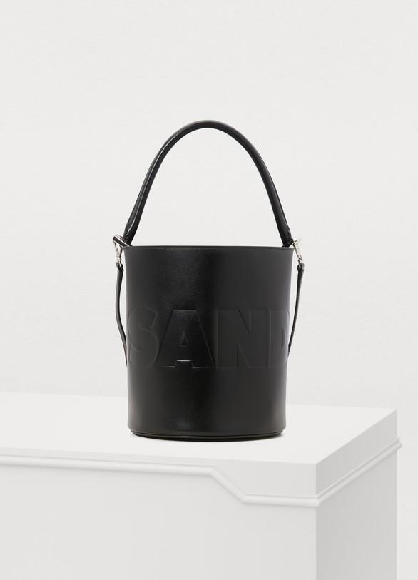 Jil SanderLeather bucket bag