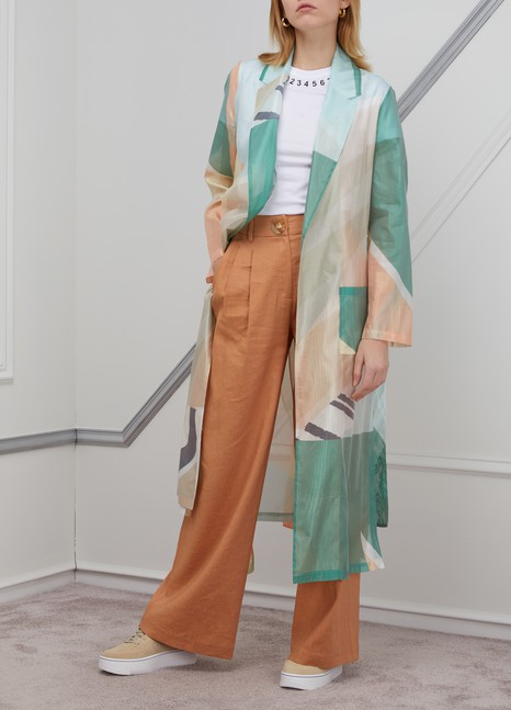 ROBERTO COLLINAPrinted trench coat