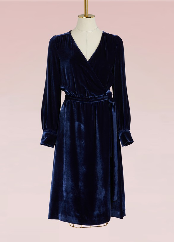 Paul & Joe Gothic velvet and silk dress