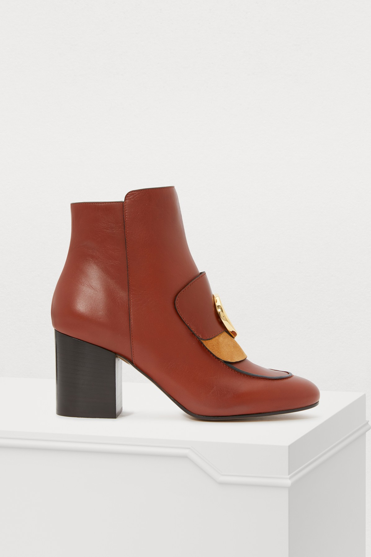 46219b94bd Chloe C Ankle Boots in Sepia Brown