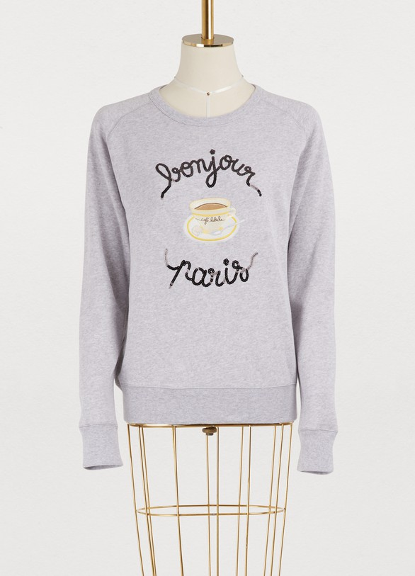 Maison Labiche Bonjour Paris cotton sweatshirt