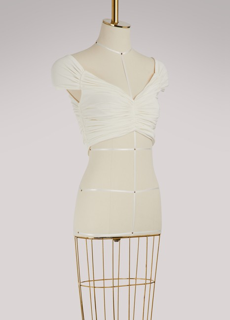 Off WhitePleated top