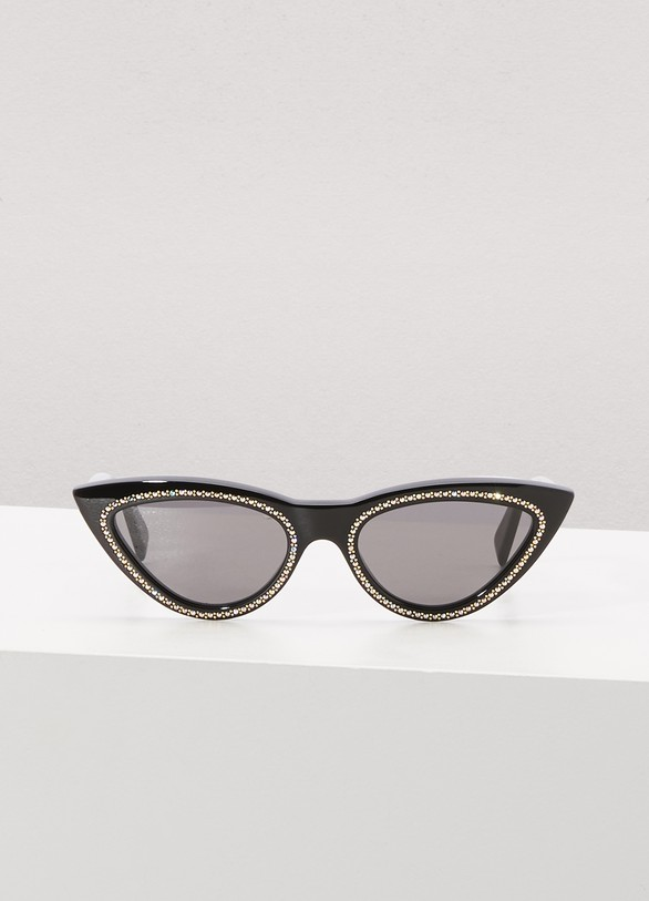 Celine Cat eye acetate sunglasses with crystals and metal detail
