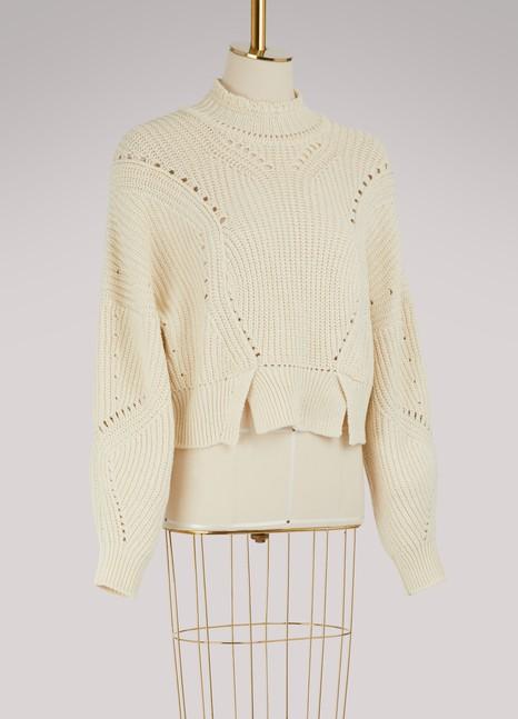 Isabel MarantPull Lane en coton et laine