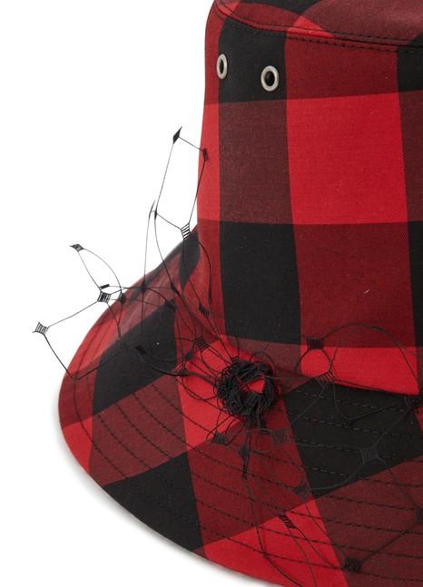 DIORBob Teddy D Check'N'Dior hat veil
