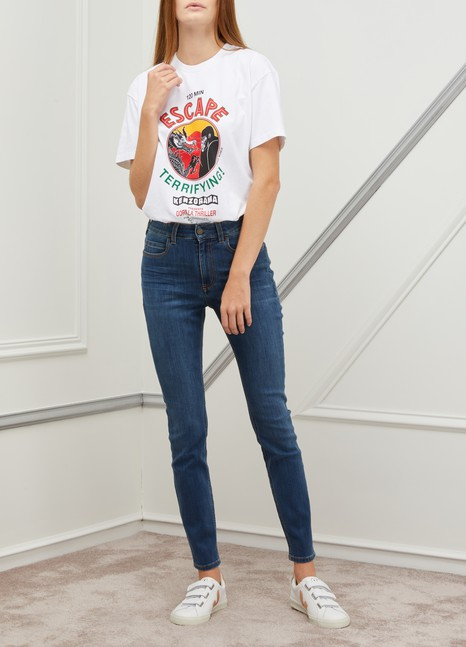 NOTIFYBamboo skinny high-waisted jeans