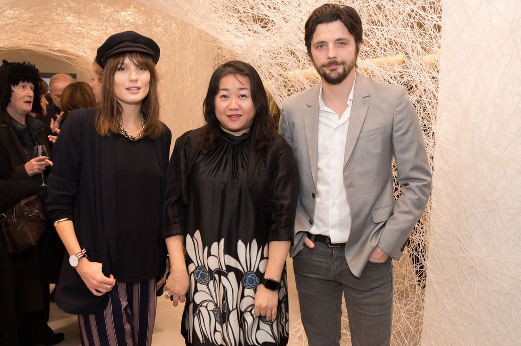 Ana Girardot, Chiharu Shiota, Raphaël Personnaz. © Say Who-Romain Mayoussier