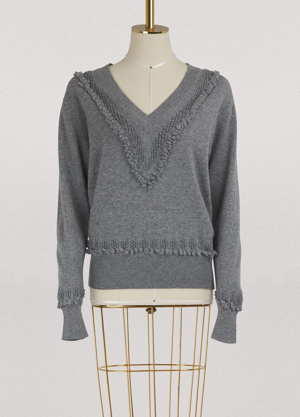 Barrie Cashmere V neck sweater